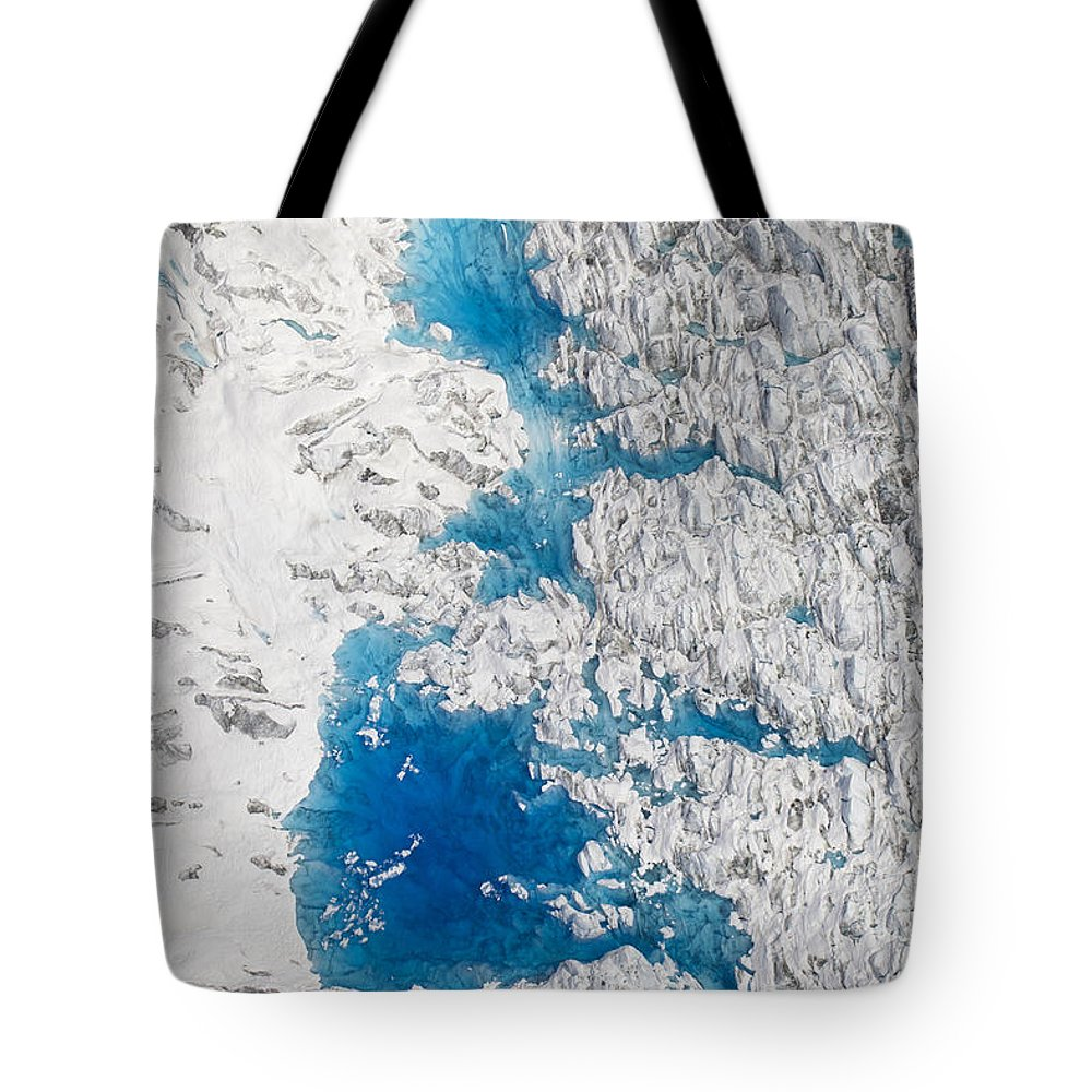 Mp Tote Bag featuring the photograph Meltwater Lakes On Hubbard Glacier by Matthias Breiter