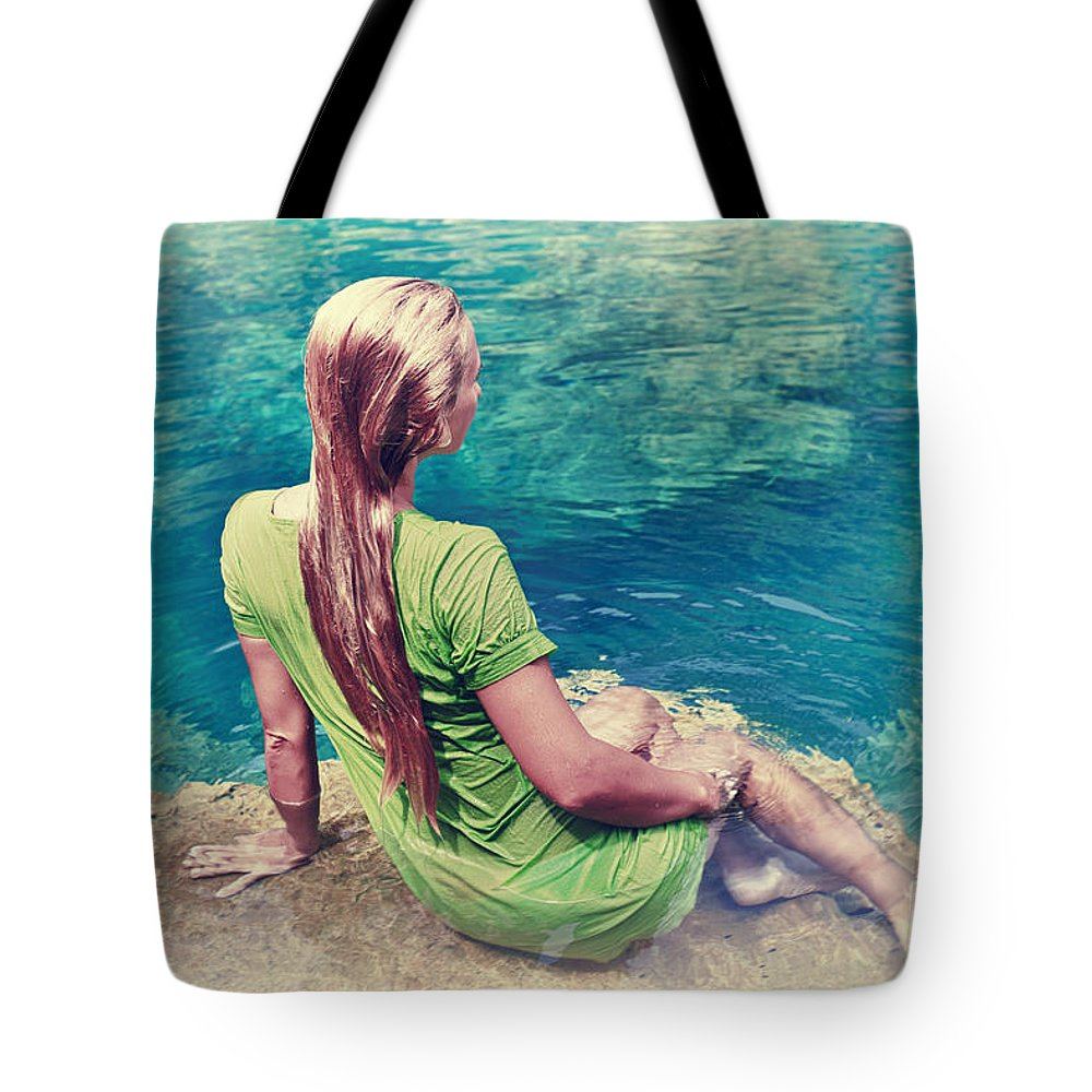 Mermaid Tote Bag featuring the photograph Mermaid by MotHaiBaPhoto Prints