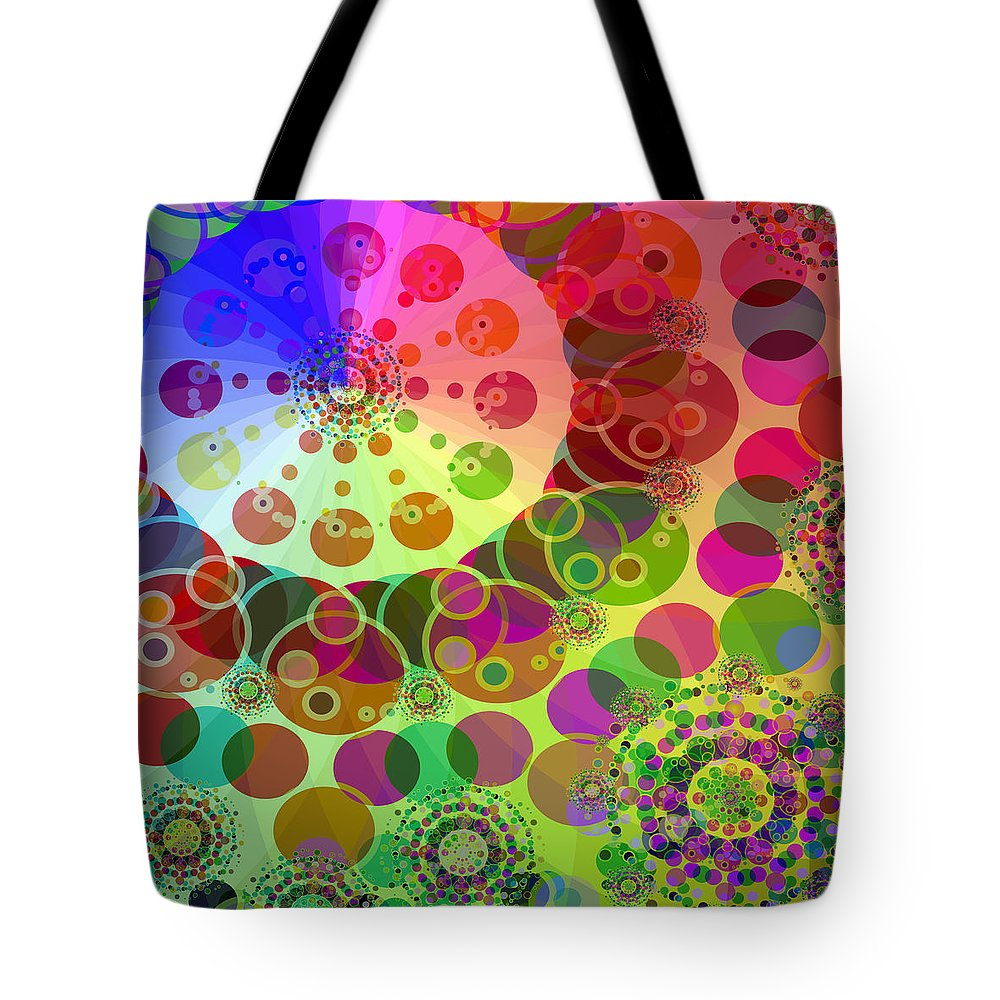 Merry Go Round Tote Bag featuring the digital art Merry Go Round 2 by Angelina Vick