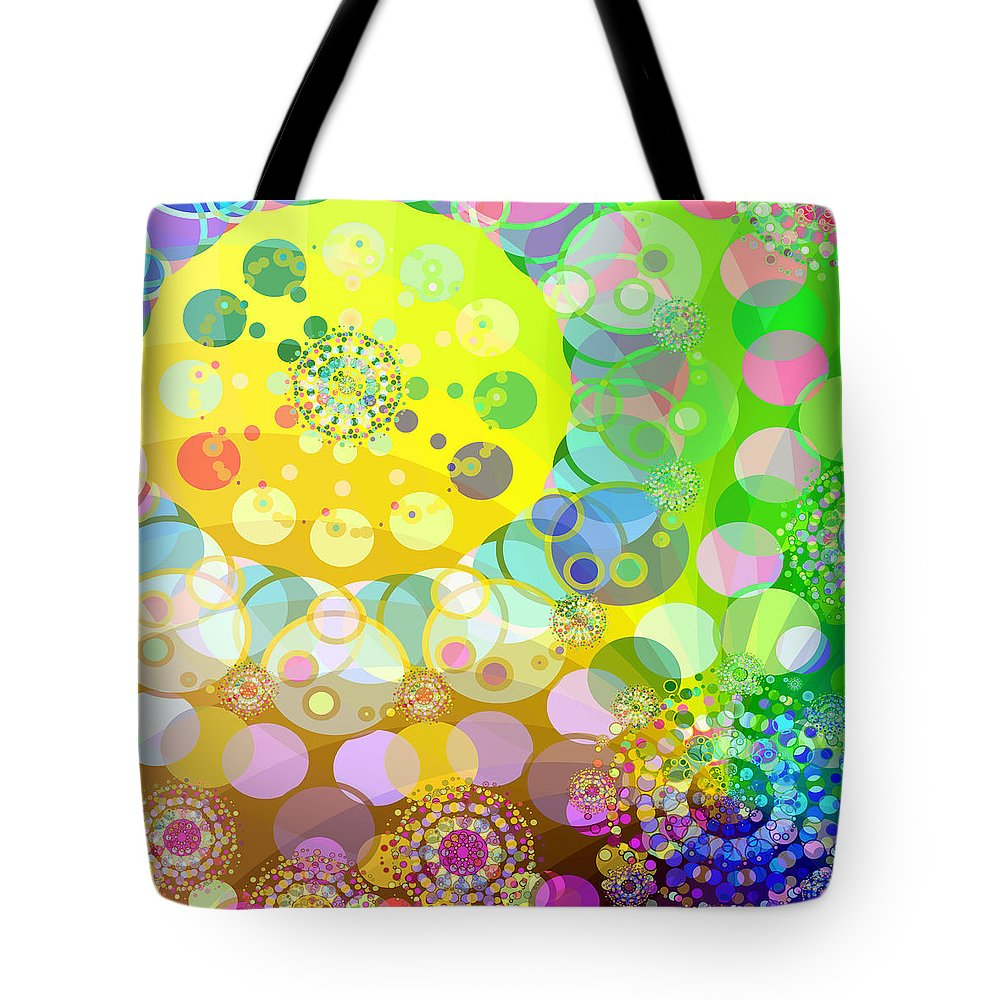 Merry Go Round Tote Bag featuring the digital art Merry Go Round Spinning 2 by Angelina Vick