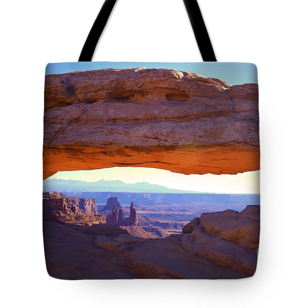 Arch Tote Bag featuring the photograph Mesa Arch by Tara Turner