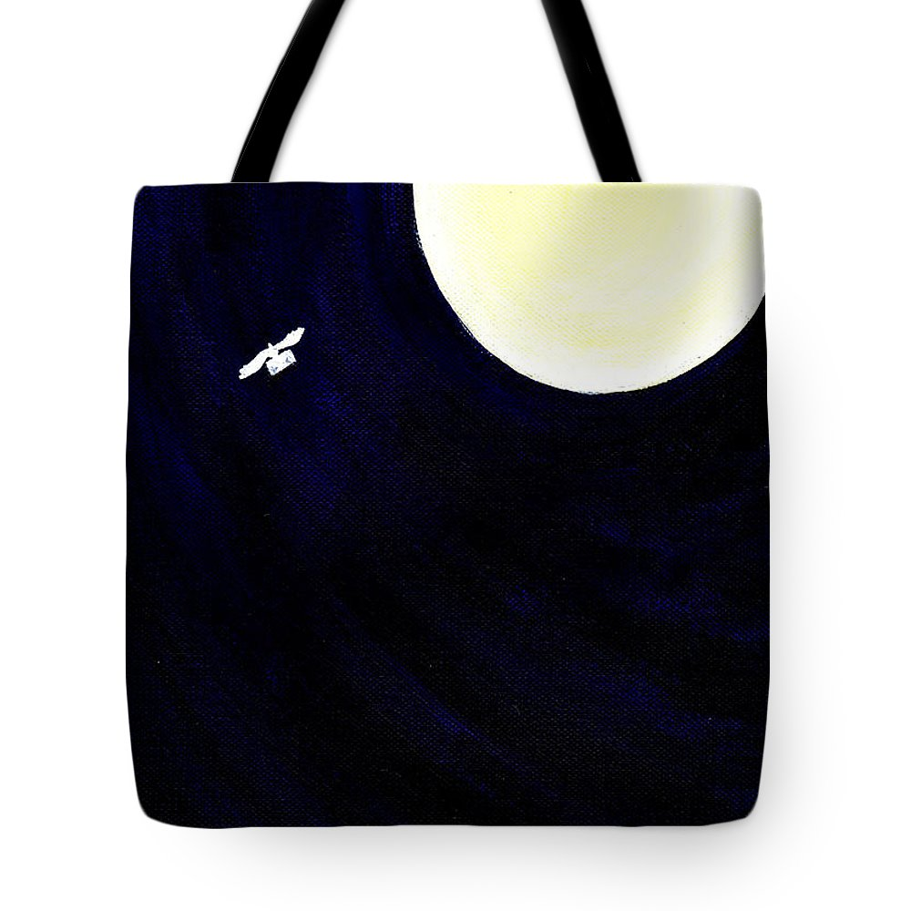 Moonlight Tote Bag featuring the painting Message by Catt Kyriacou