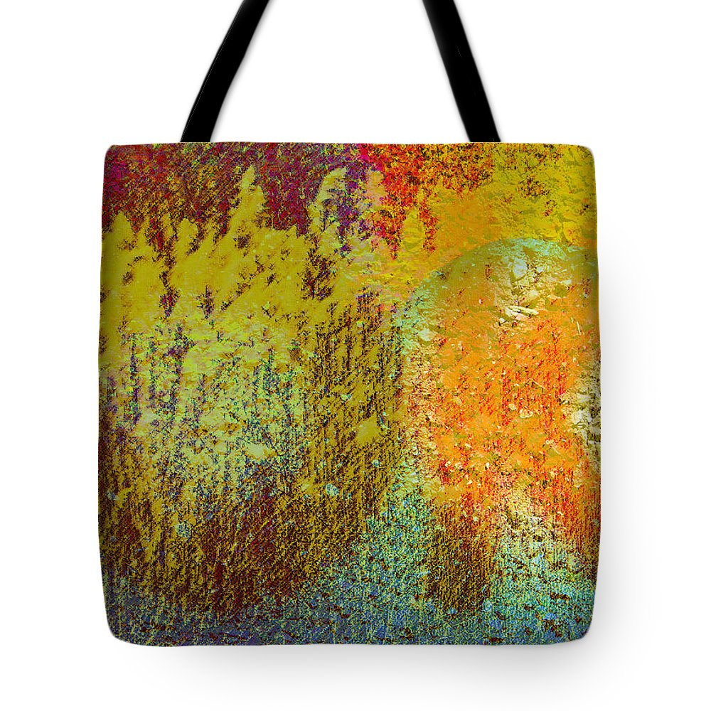 Abstract Tote Bag featuring the photograph Message Written On Grass by Lenore Senior