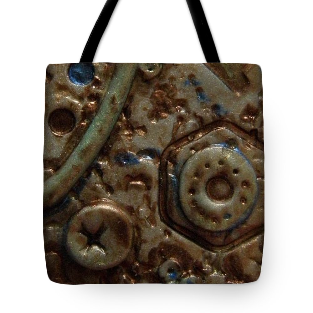 Metallic Paint Tote Bag featuring the jewelry Metallic Wash Clay Pin by M Brandl