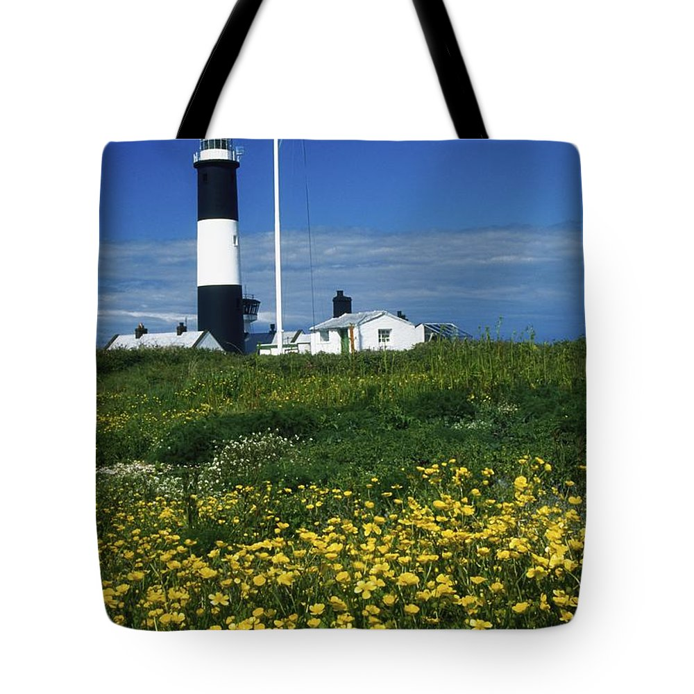 Architecture Tote Bag featuring the photograph Mew Island, County Down, Ireland by Richard Cummins