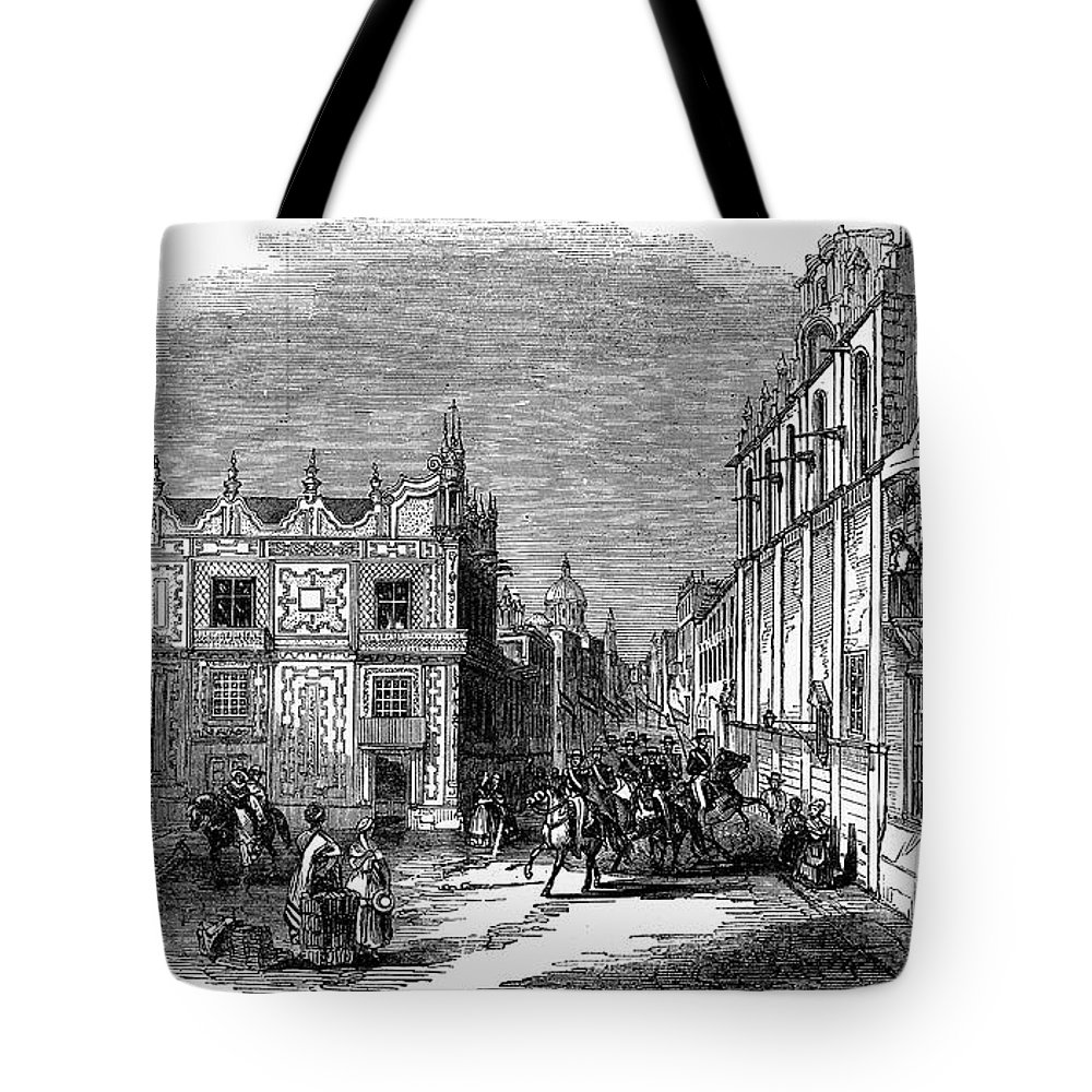 1845 Tote Bag featuring the photograph Mexico City, 1845 by Granger