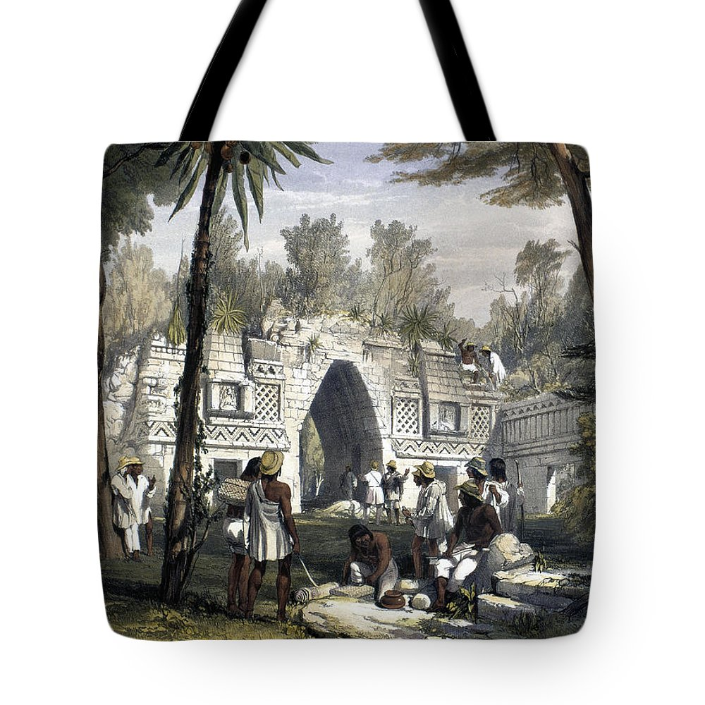 1844 Tote Bag featuring the photograph Mexico: Labnah, 1844 by Granger