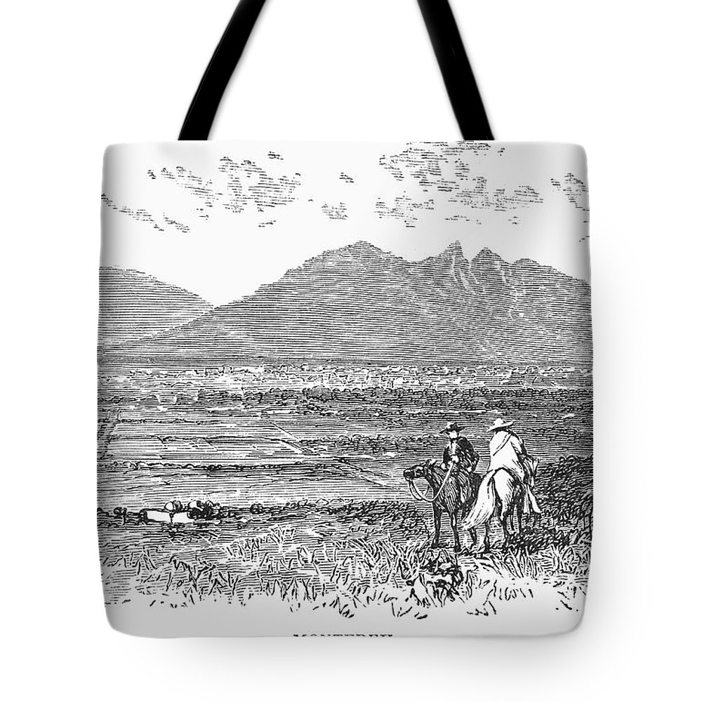 1846 Tote Bag featuring the photograph Mexico: Monterrey, C1846 by Granger