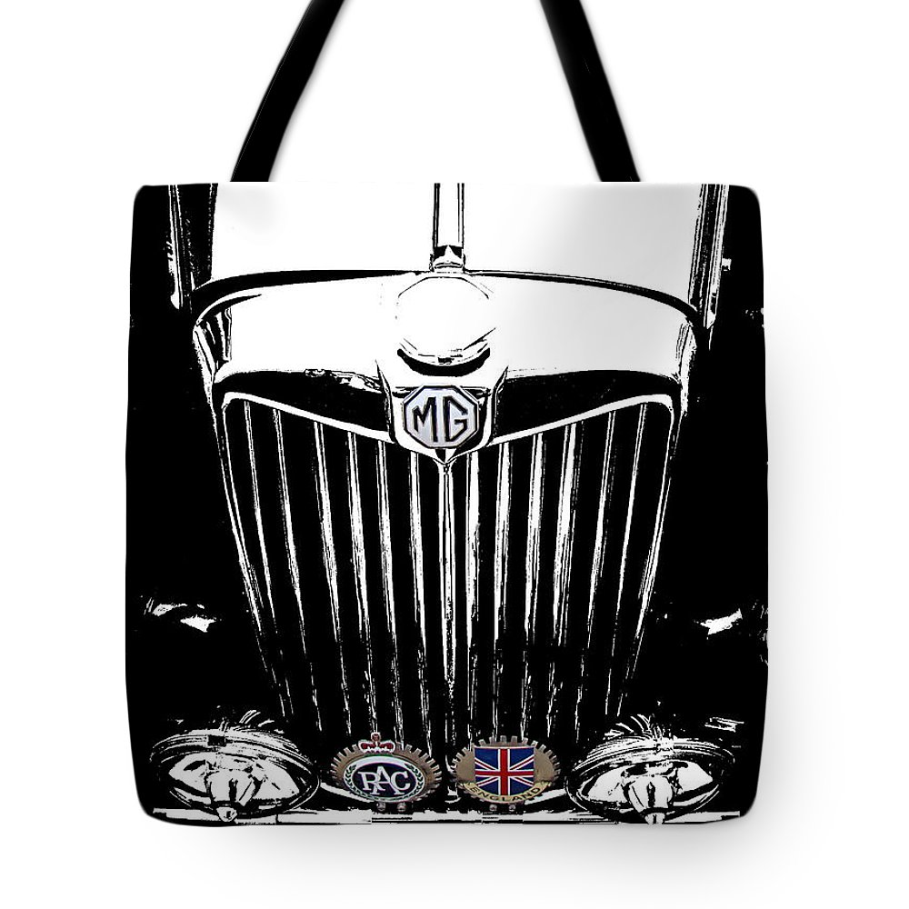 Mg Tote Bag featuring the photograph Mg Grill With Dash Of Color by Nick Kloepping