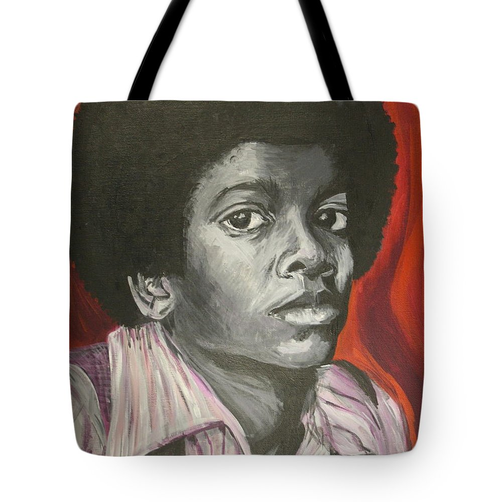 Michael Jackson Tote Bag featuring the painting Michael Jackson by Kate Fortin