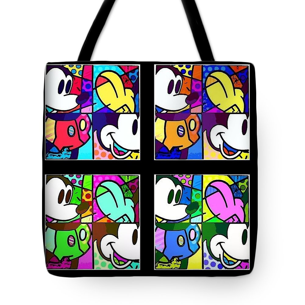 Mickey Mouse Tote Bag featuring the photograph Mickey In Colors by Rob Hans