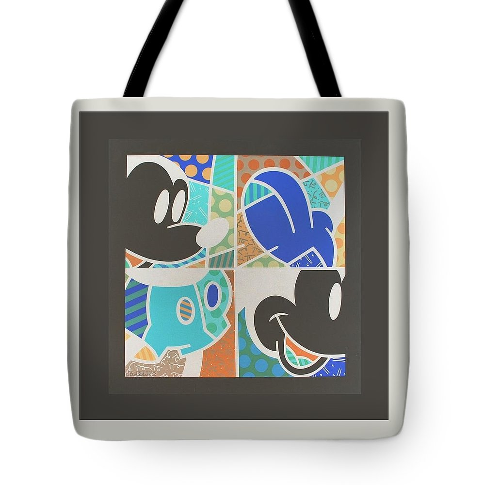 Mickey Mouse Tote Bag featuring the photograph Mickey In Negative by Rob Hans