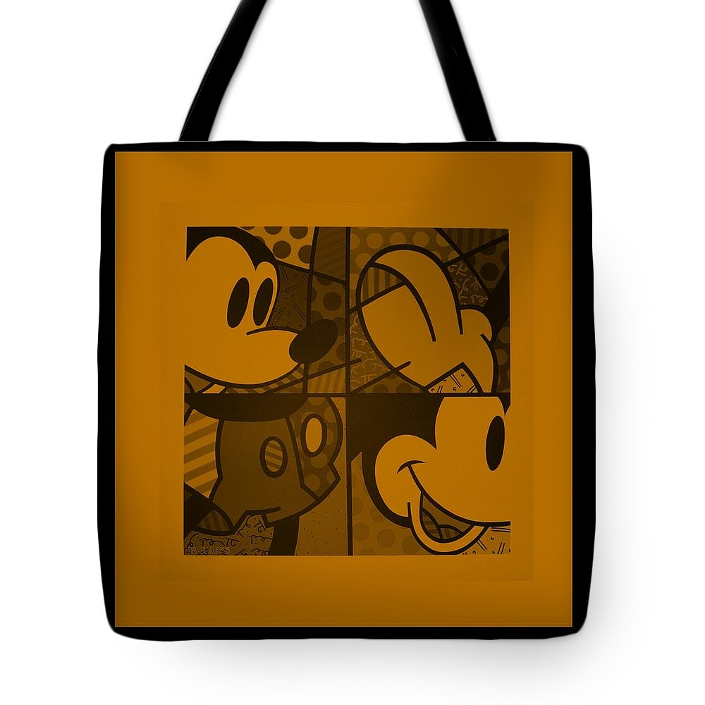 Mickey Mouse Tote Bag featuring the photograph Mickey In Orange by Rob Hans