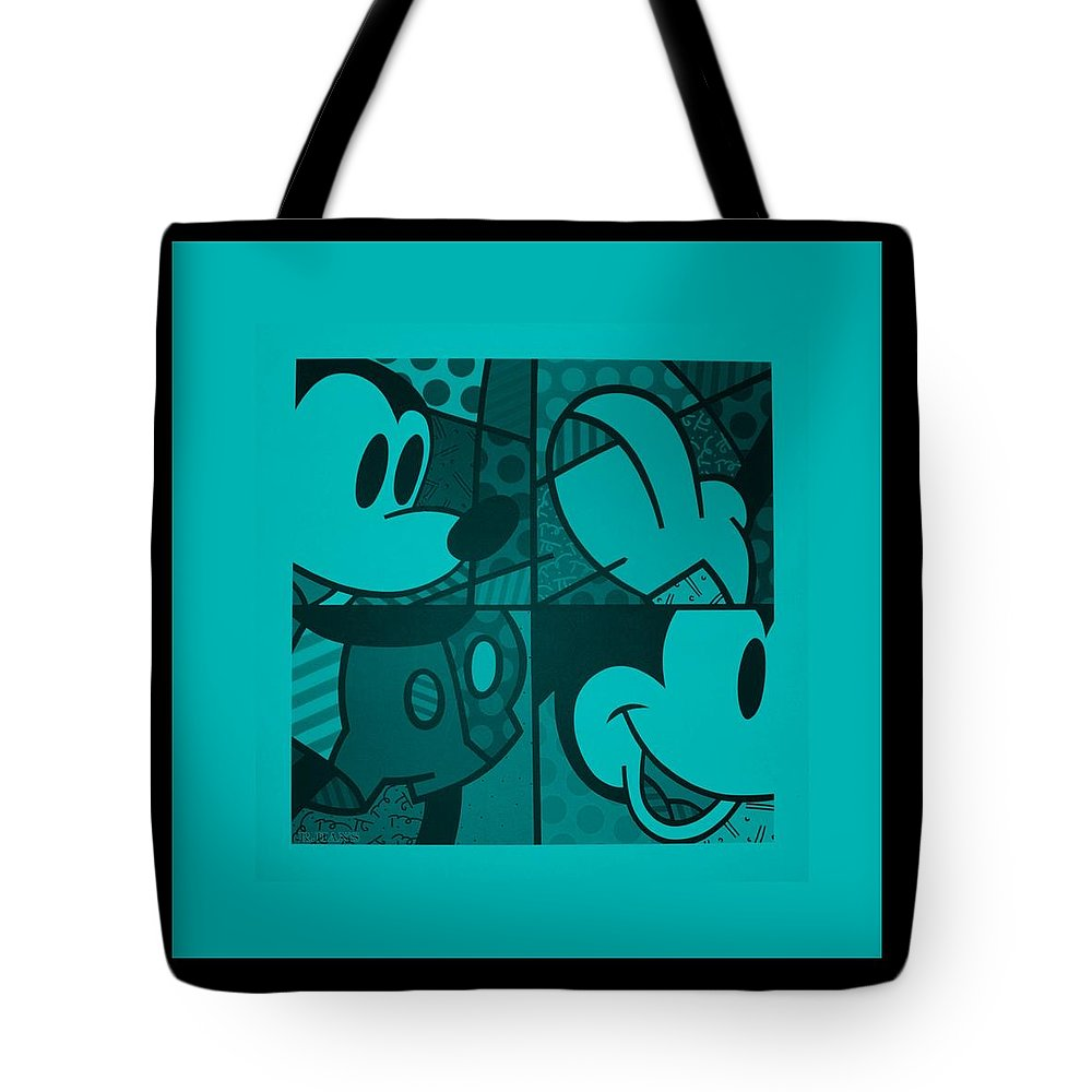 Mickey Mouse Tote Bag featuring the photograph Mickey In Turquois by Rob Hans