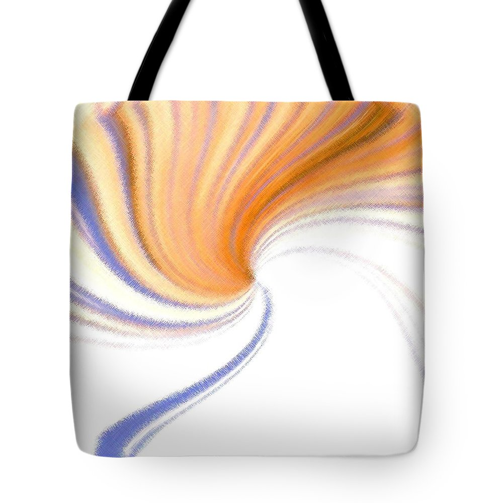 Micro Linear Tote Bag featuring the digital art Micro Linear 24 by Will Borden