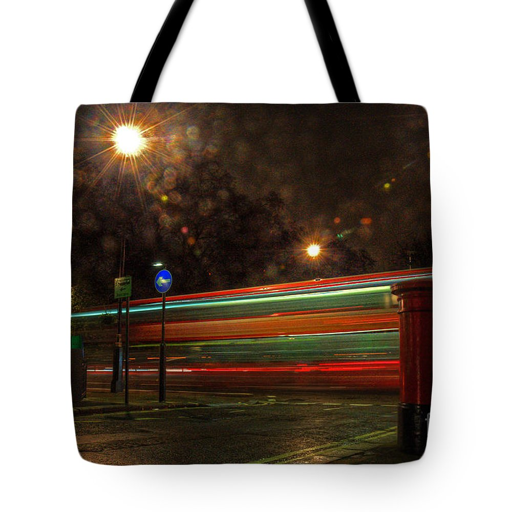 Mayfair Tote Bag featuring the photograph Midnight In Mayfair by Rob Hawkins