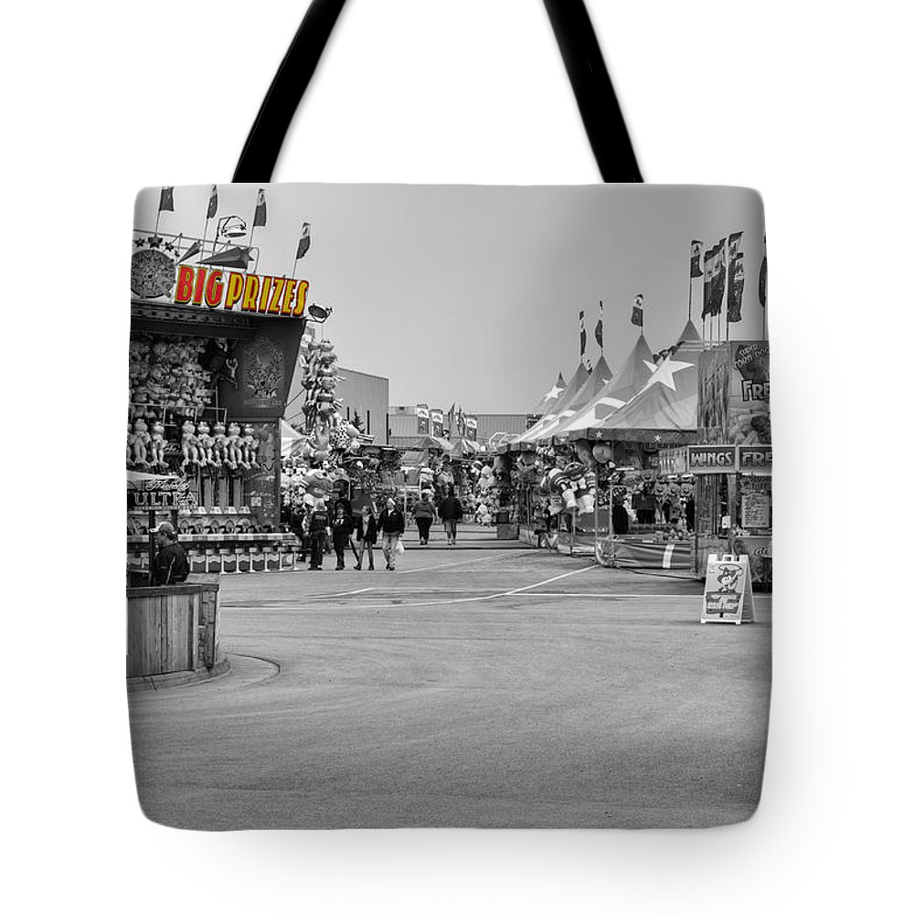 Fair Tote Bag featuring the photograph Midway Fun by Ricky Barnard