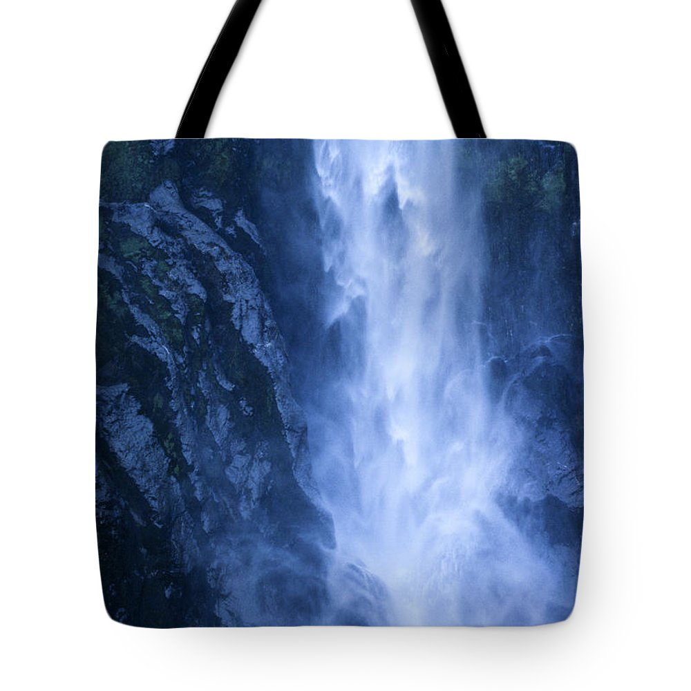 Bronstein Tote Bag featuring the photograph Milford Sound New Zealand by Sandra Bronstein