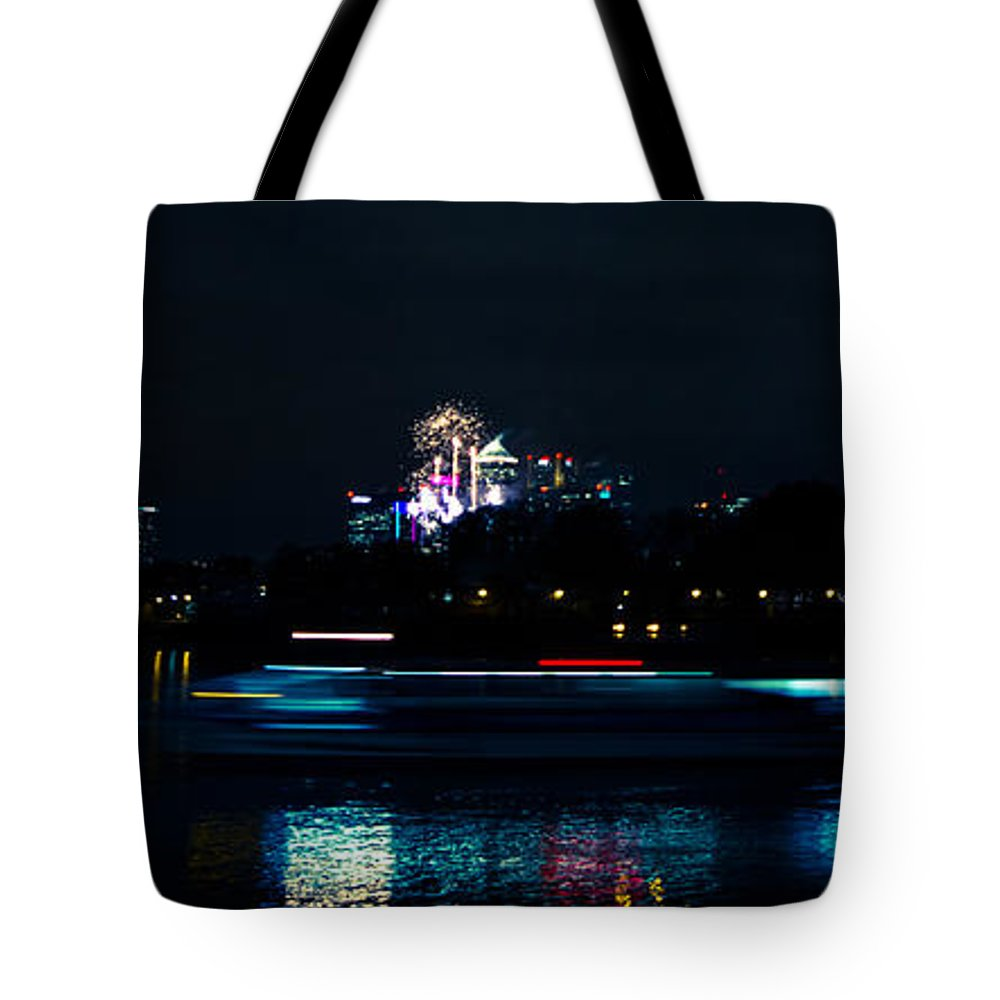 Millbank Park Fireworks Tote Bag featuring the photograph Millbank Firework Display by Dawn OConnor