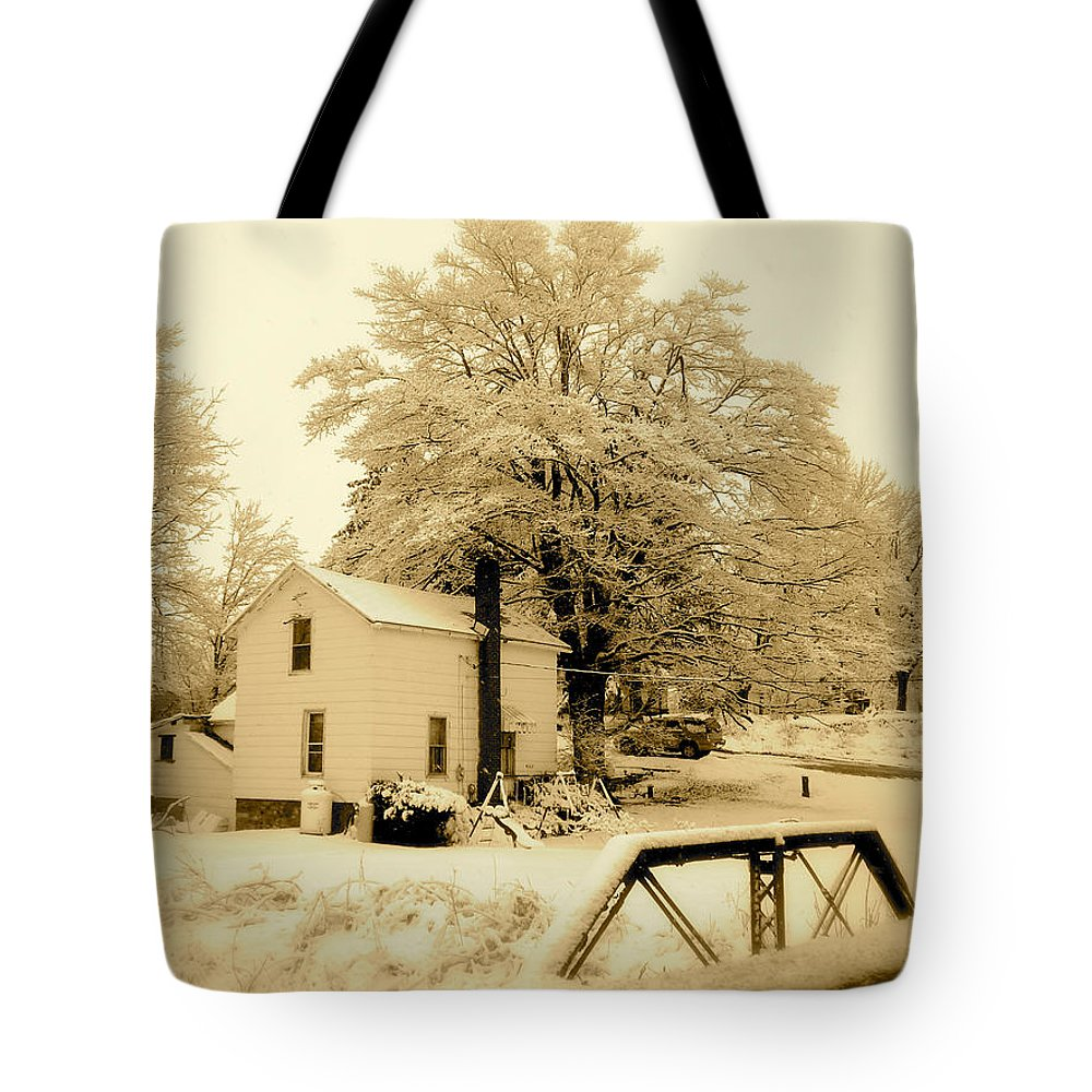Landscape Tote Bag featuring the photograph Millville by Arthur Barnes