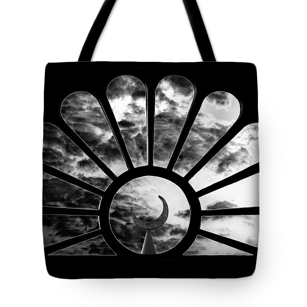 Fine Art Photography Tote Bag featuring the photograph Minaret Through Glass by David Lee Thompson
