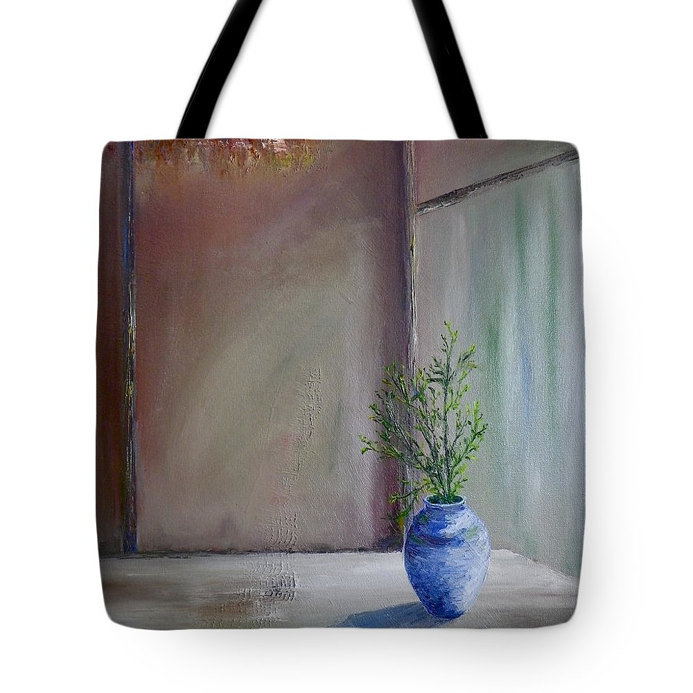 Minka Tote Bag featuring the painting Minka by Anna Ruzsan