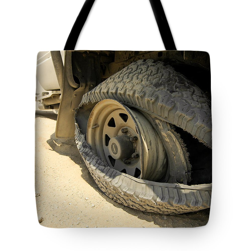 4x4 Tote Bag featuring the photograph Minor Mishap by Alistair Lyne