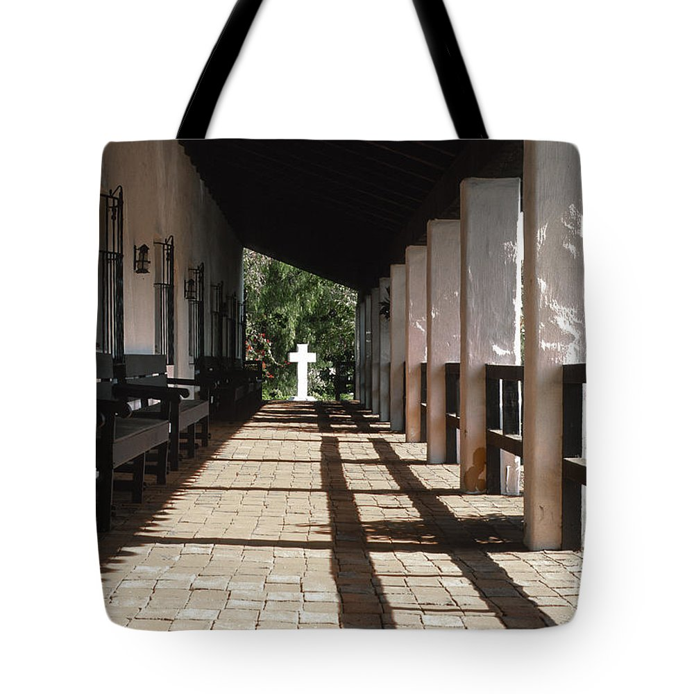 Bronstein Tote Bag featuring the photograph Mission San Diego by Sandra Bronstein