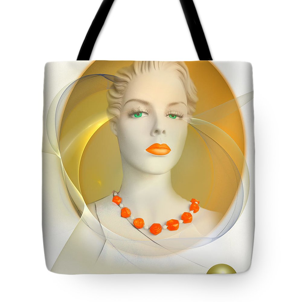 Woman Tote Bag featuring the digital art Model 102 by Marek Lutek