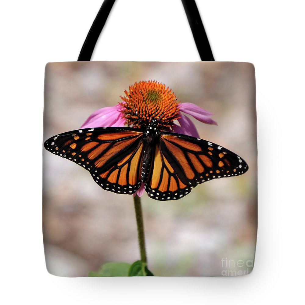 Monarch Tote Bag featuring the photograph Monarch by Ronald Grogan