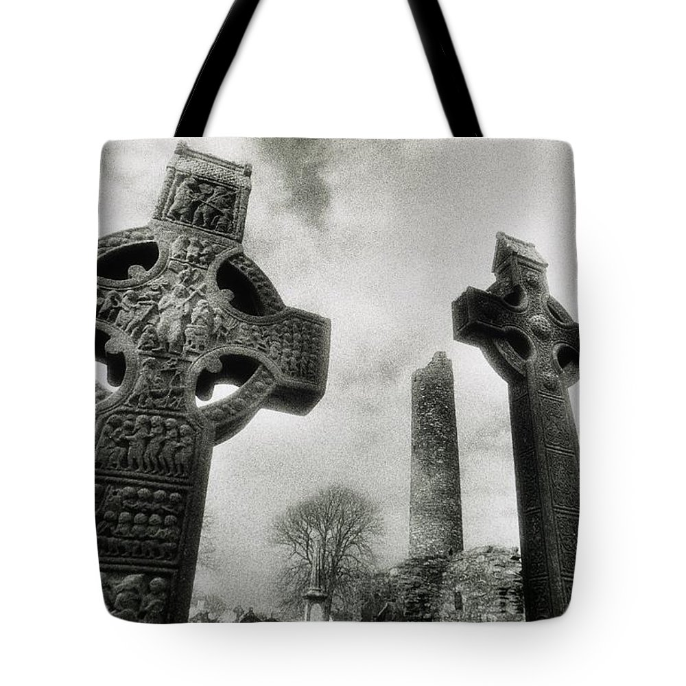 Outdoors Tote Bag featuring the photograph Monasterboice, Co Louth, Ireland, High by Sici