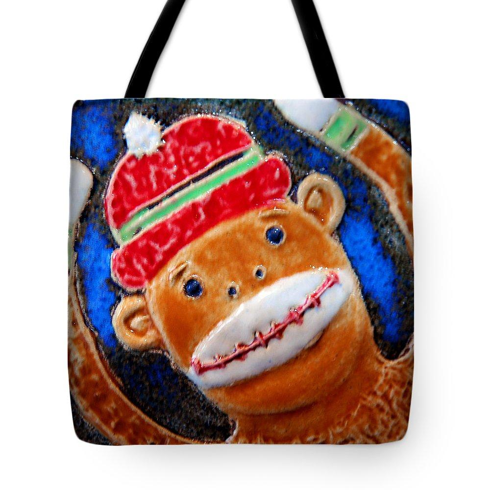 Animals Tote Bag featuring the photograph Monkey Sock Around by LeeAnn McLaneGoetz McLaneGoetzStudioLLCcom