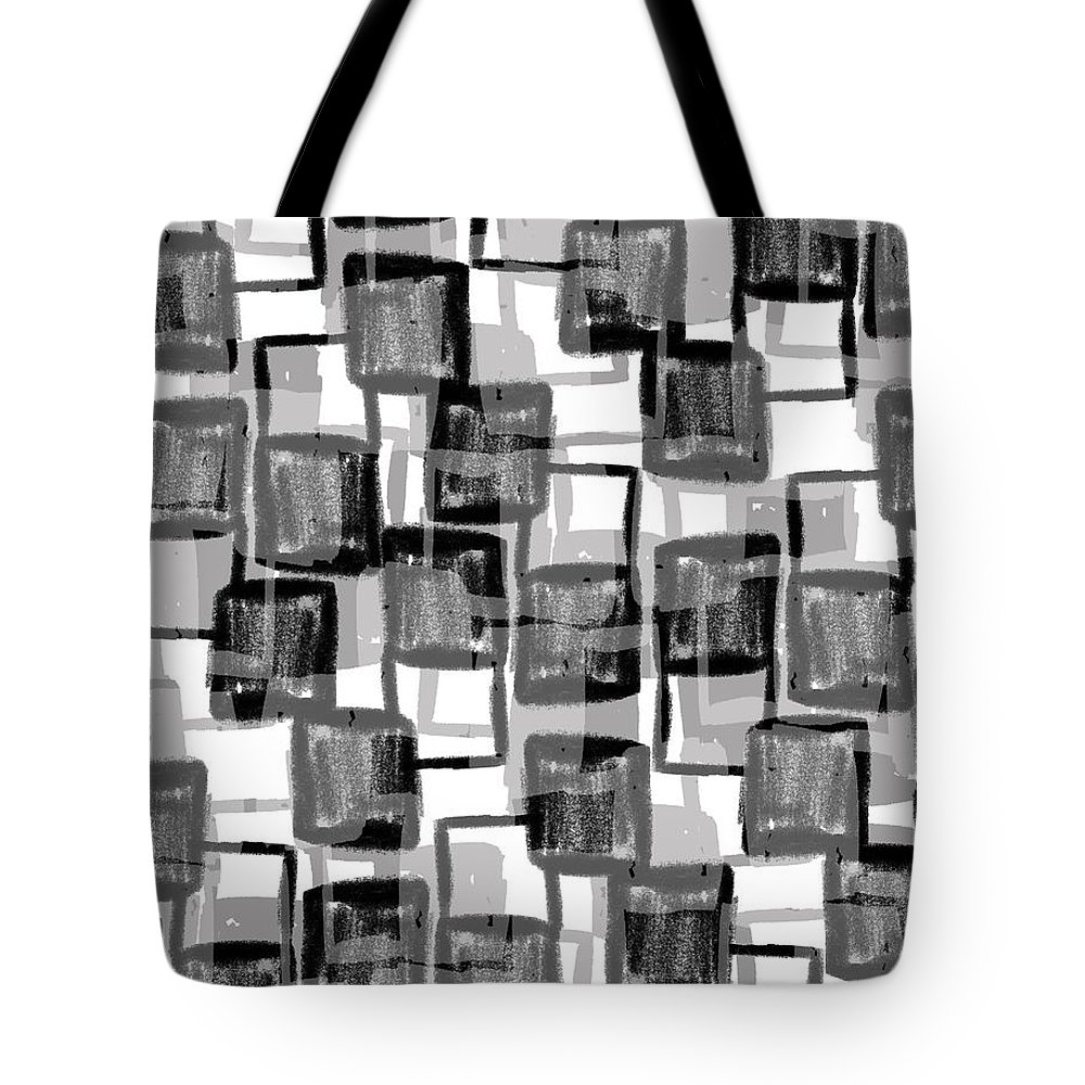 Monochrome Squares (digital) By Louisa Knight (contemporary Artist) Tote Bag featuring the photograph Monochrome Squares by Louisa Knight
