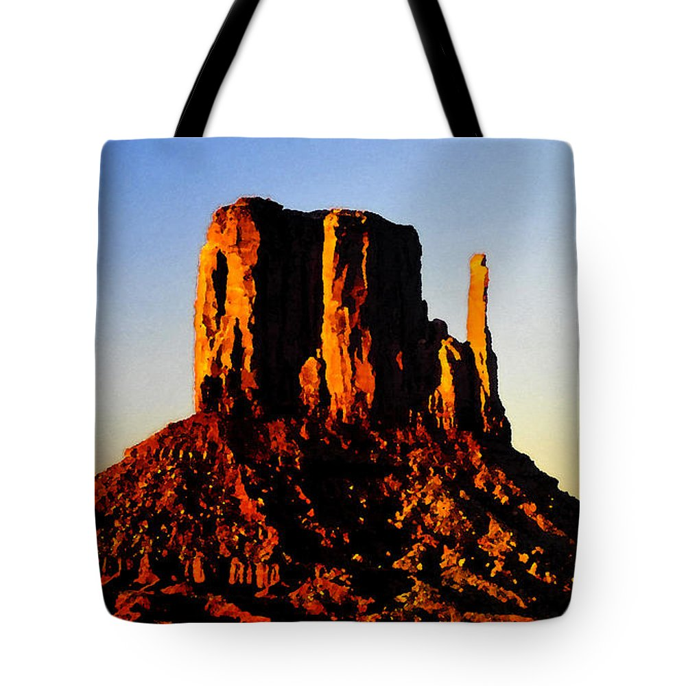 Art Tote Bag featuring the painting Monument Landscape by David Lee Thompson