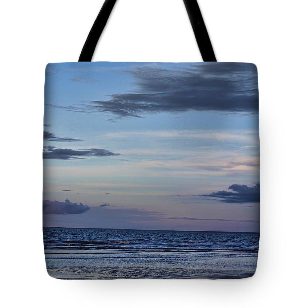 Sea Tote Bag featuring the photograph Moon Beach by Douglas Barnard