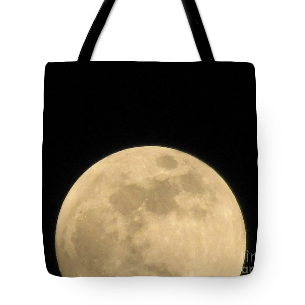 Astronomy Tote Bag featuring the photograph Moon Galaxy Saturn by Michelle Powell