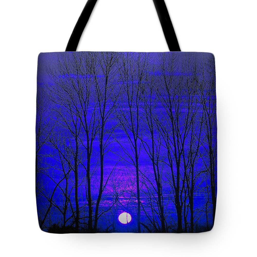Moon Tote Bag featuring the photograph Moonrise by Marie Jamieson