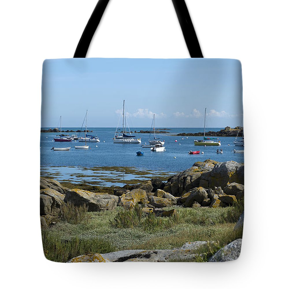 Brittany Tote Bag featuring the photograph Moorings Iles Chausey by Gary Eason