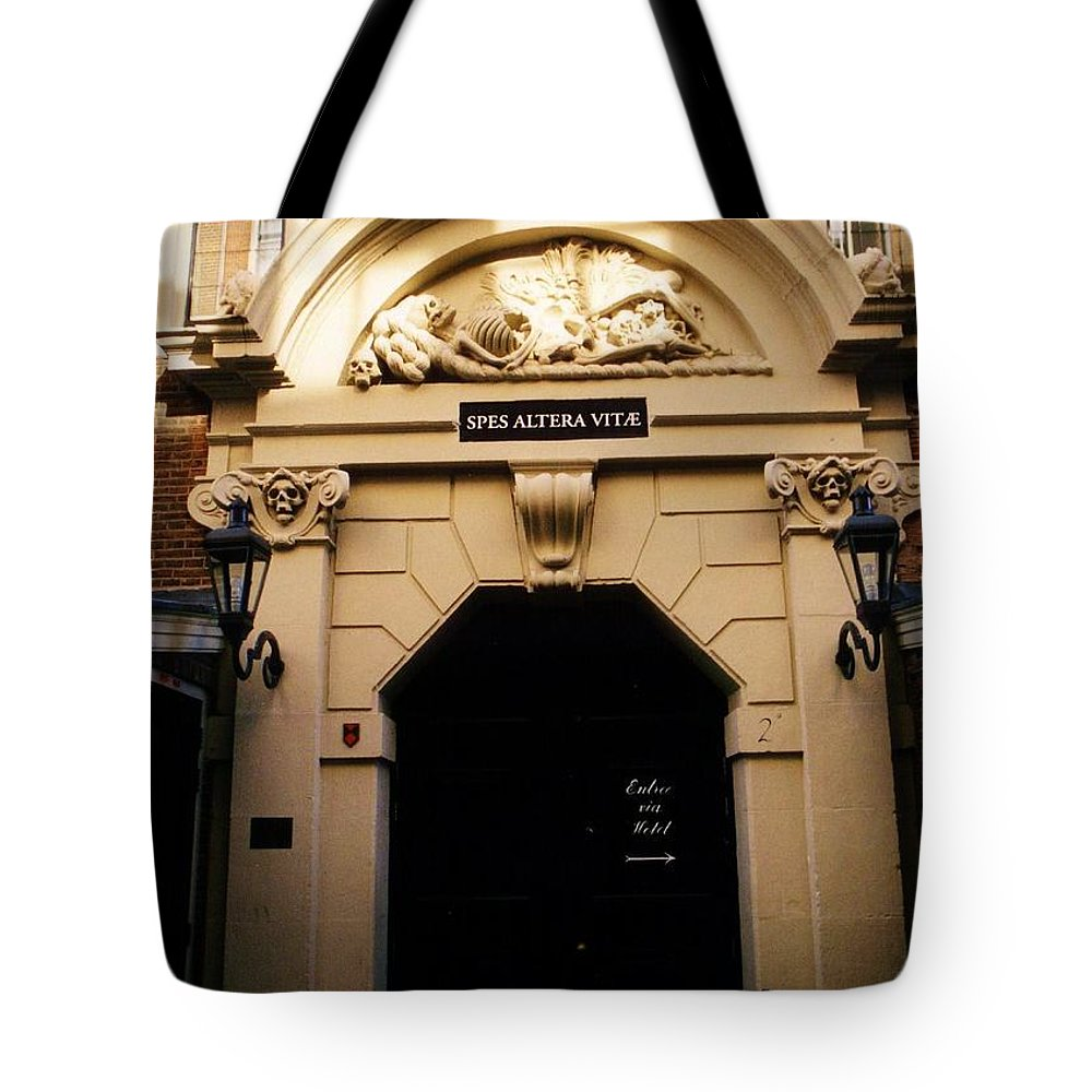 Entrance Tote Bag featuring the photograph Morbid Entrance. by Halifax Artist John Malone
