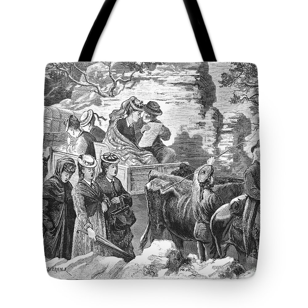 1875 Tote Bag featuring the photograph Mormon Wives, 1875 by Granger