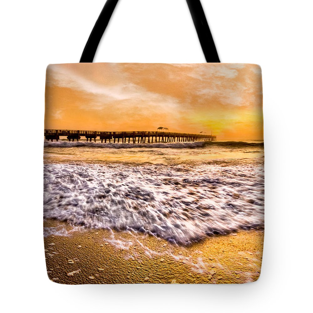 Blowing Tote Bag featuring the photograph Morning Gold Rush by Debra and Dave Vanderlaan