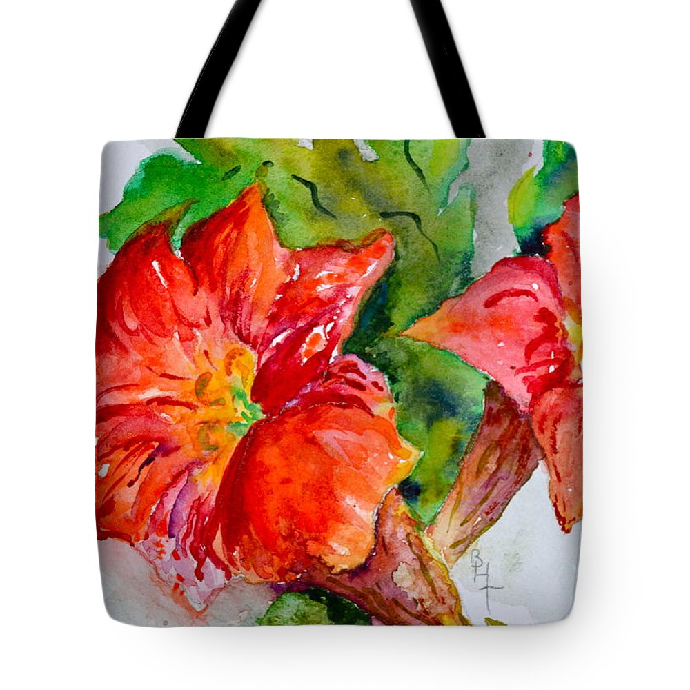 Watercolor Tote Bag featuring the painting Morning Revelry by Beverley Harper Tinsley