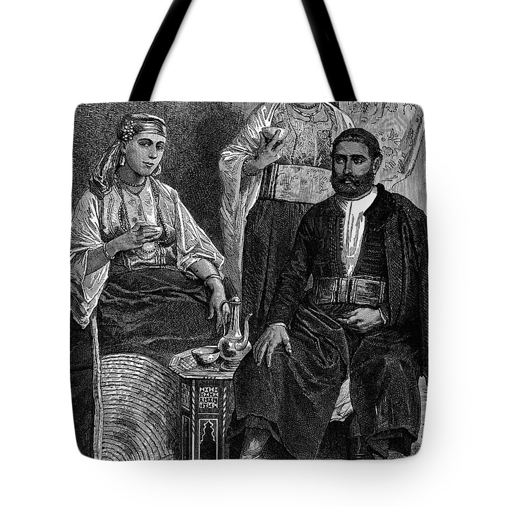 1892 Tote Bag featuring the photograph Moroccan Jews, C1892 by Granger