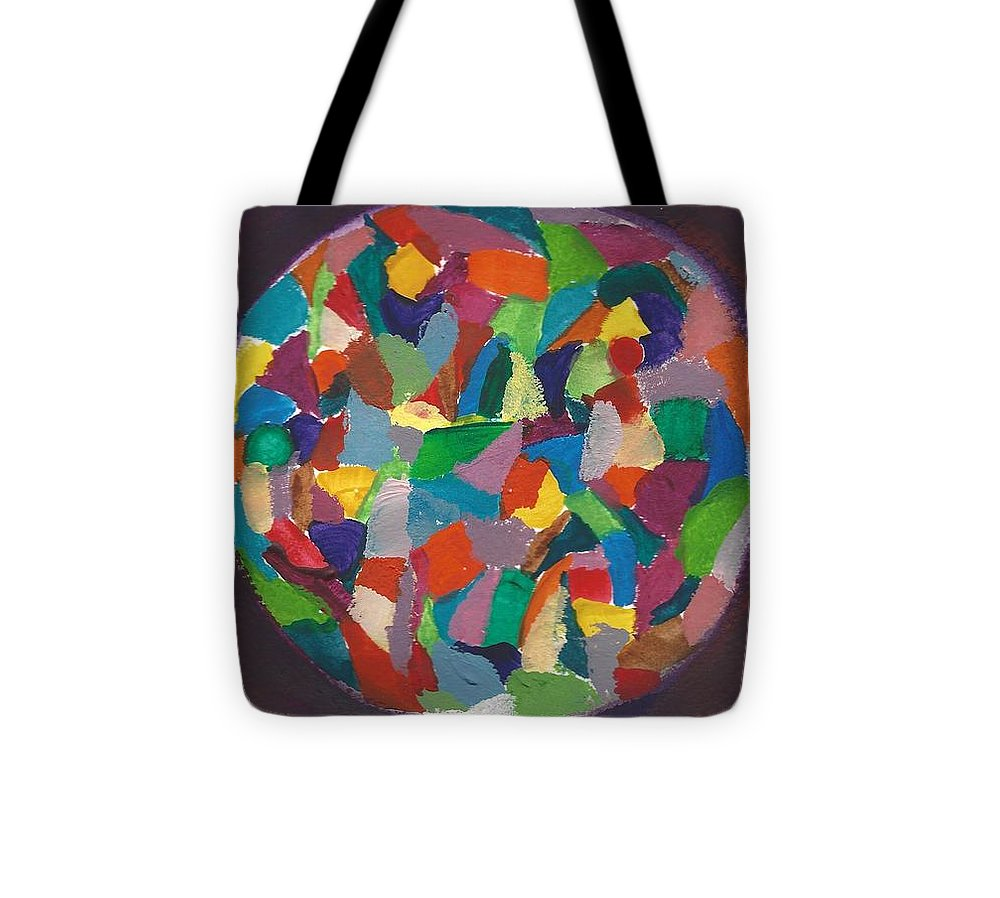 Mosaic Tote Bag featuring the painting Mosaic by Kristina Kannarr