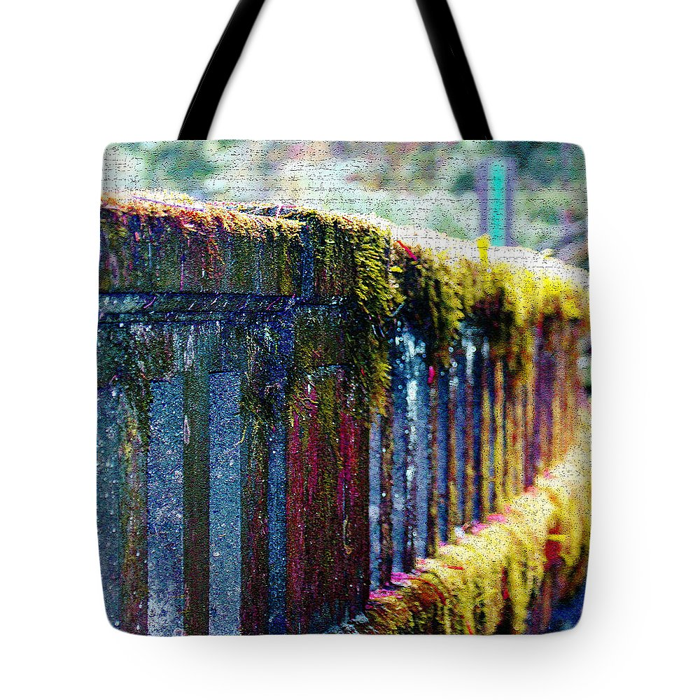 Bridges Tote Bag featuring the photograph Moss Covered Bridge by Marie Jamieson