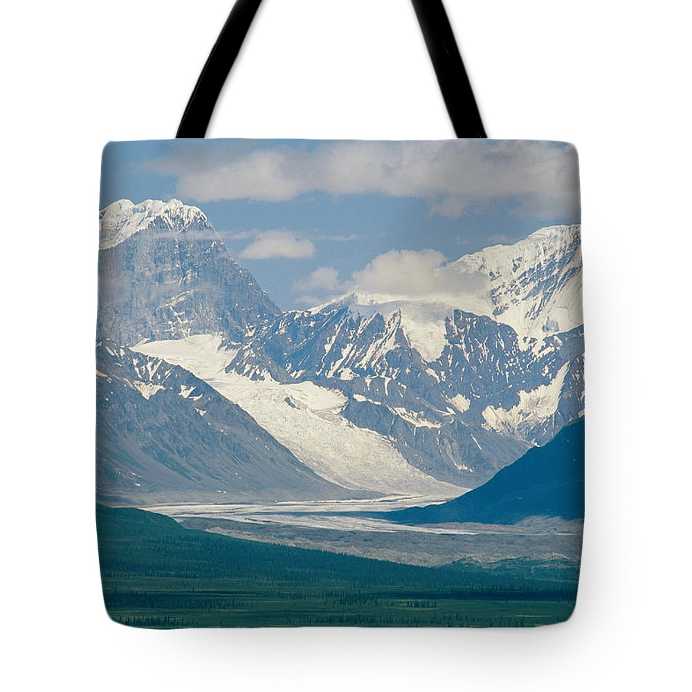 North America Tote Bag featuring the photograph Mount Deborah And Hess Mountain by Rich Reid