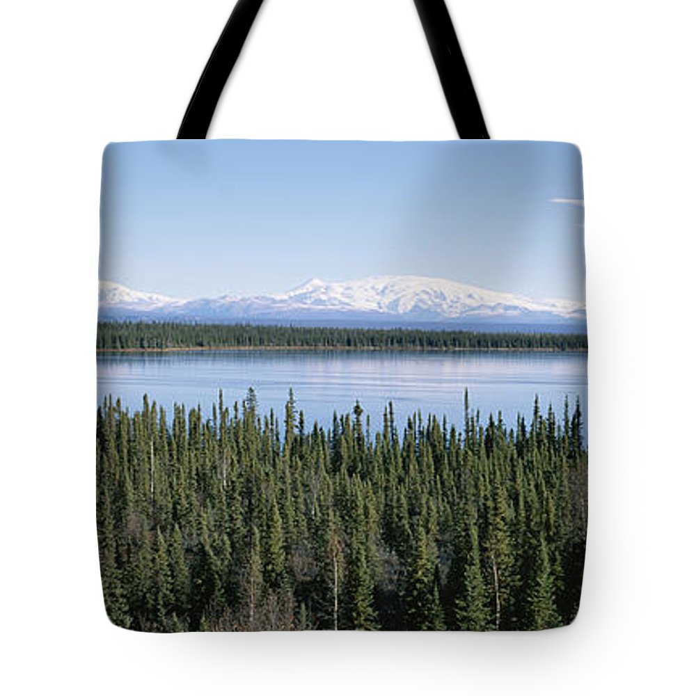 North America Tote Bag featuring the photograph Mount Drum, Sanford And Wrangell by Rich Reid