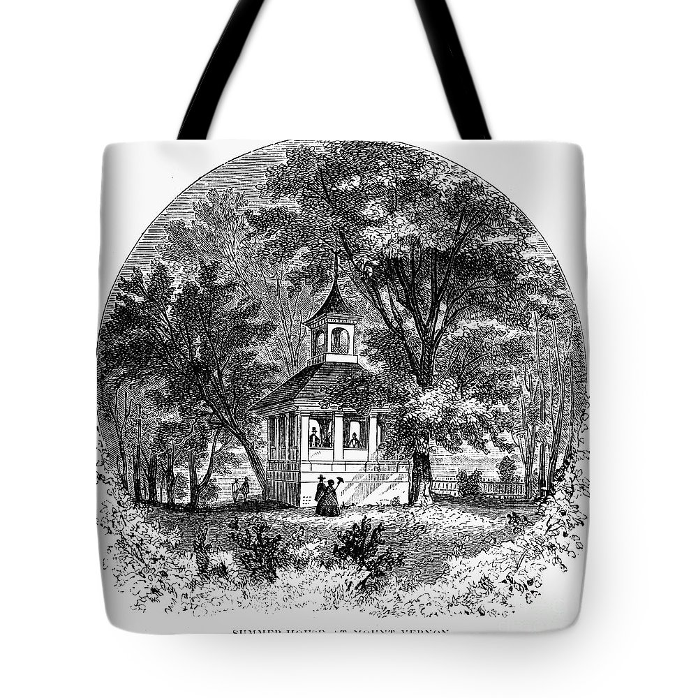 1883 Tote Bag featuring the photograph Mount Vernon, 1883 by Granger