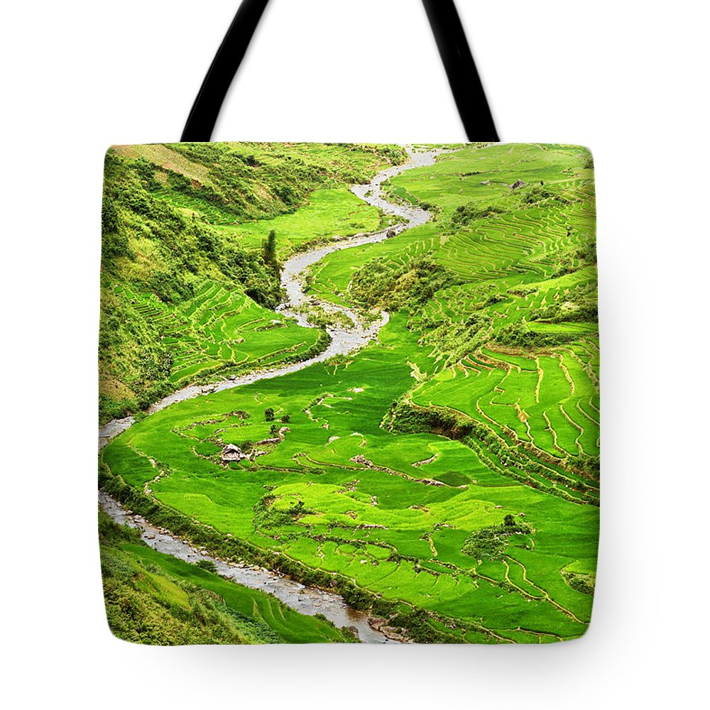 River Tote Bag featuring the photograph Mountain River by MotHaiBaPhoto Prints