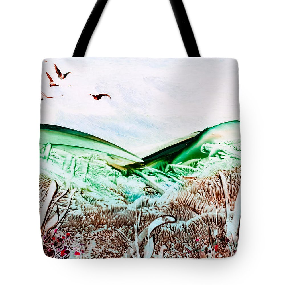 Country Tote Bag featuring the painting Mountain Scene by Simon Bratt Photography LRPS